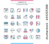 contact us icons set. modern... | Shutterstock .eps vector #644205388
