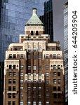 vancouver skyline canada... | Shutterstock . vector #644205904