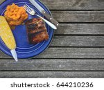 summer barbecue meal | Shutterstock . vector #644210236