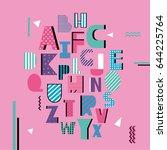 english alphabet vector ...   Shutterstock .eps vector #644225764