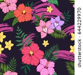 seamless pattern with colored... | Shutterstock .eps vector #644229970