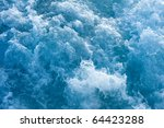 Churning Blue Water In The...