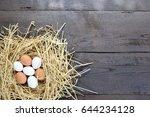 chicken eggs  eggs in the nest | Shutterstock . vector #644234128