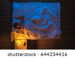 the woman sleeping on the bed.... | Shutterstock . vector #644234416