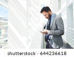 half length portrait of man...   Shutterstock . vector #644236618