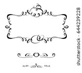 hand drawn frame calligraphic...   Shutterstock .eps vector #644239228