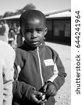 Small photo of MALOLOTJA, SWAZILAND-JULY 31: Unidentified orphan schoolboy on July 31, 2008 in Malolotja Government School, Malolotja, Swaziland. Close to 10% of Swazilands population are orphans, due to HIV/AIDS.