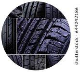 tyre | Shutterstock . vector #644242186