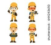 set of character constructor... | Shutterstock .eps vector #644243650