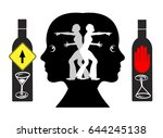 withdrawal from alcohol. woman... | Shutterstock . vector #644245138