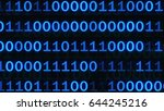 abstract binary code on blue...   Shutterstock . vector #644245216