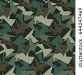 abstract vector color military... | Shutterstock .eps vector #644247469
