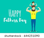 happy fathers day. super dad.... | Shutterstock .eps vector #644251090