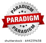 paradigm round isolated silver... | Shutterstock .eps vector #644259658