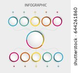 abstract 3d infographic... | Shutterstock .eps vector #644261860