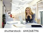 portrait of attractive cheerful ... | Shutterstock . vector #644268796