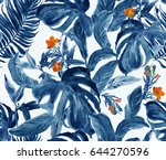 Seamless Pattern Hand Painted...