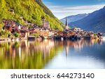 classic postcard view of famous ...   Shutterstock . vector #644273140