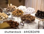 selection of chocolate in a row ... | Shutterstock . vector #644282698