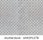 seamless metal floor plate with ... | Shutterstock . vector #644291278