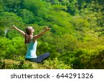 feeling free  happiness and... | Shutterstock . vector #644291326