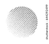 stipple dots effect abstract... | Shutterstock .eps vector #644292499