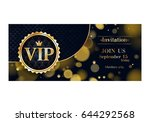 vip club party premium... | Shutterstock .eps vector #644292568