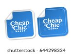 cheap   chic stickers | Shutterstock .eps vector #644298334