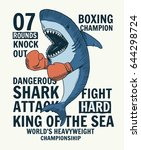 fighter shark vector... | Shutterstock .eps vector #644298724