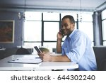 smiling handsome hipster guy... | Shutterstock . vector #644302240