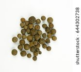Small photo of Beads of allspice isolated on a white background