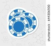 vector flat sticker chips icon... | Shutterstock .eps vector #644306500