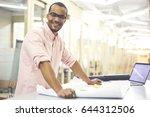 half length portrait of... | Shutterstock . vector #644312506