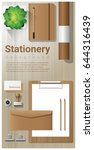 stationery background with... | Shutterstock .eps vector #644316439