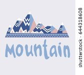 image of mountains with... | Shutterstock .eps vector #644318608