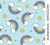 Pastel Rainbow And Stars...