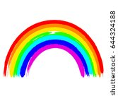 pencil rainbow  a texture of a... | Shutterstock .eps vector #644324188