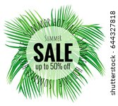 summer sale poster with...   Shutterstock .eps vector #644327818