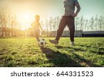father and son playing together ... | Shutterstock . vector #644331523