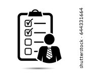 project management icon. vector ... | Shutterstock .eps vector #644331664