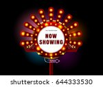 theater sign and neon light... | Shutterstock .eps vector #644333530