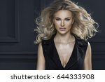 sensual beautiful blonde woman... | Shutterstock . vector #644333908