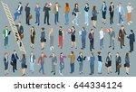 set of isometric 3d flat design ... | Shutterstock .eps vector #644334124