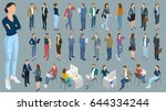 set of isometric 3d flat design ... | Shutterstock .eps vector #644334244