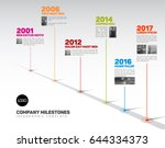 vector infographic company... | Shutterstock .eps vector #644334373