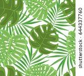 exotic seamless pattern | Shutterstock .eps vector #644337760