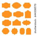 vintage labels template set.... | Shutterstock .eps vector #644338570