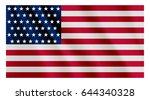 american flag flowing.... | Shutterstock .eps vector #644340328