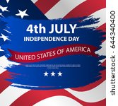 fourth of july independence day ... | Shutterstock .eps vector #644340400