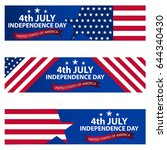 fourth of july independence day ... | Shutterstock .eps vector #644340430